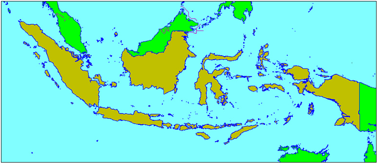 Indonesia comprises 13,677 islands straddling the equator, 6,000 of which are inhabited.