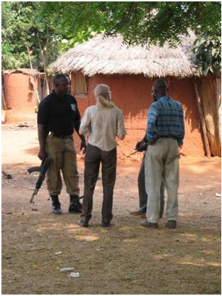 Negotiating Community Discussion for participatory plotting gas pipeline route, Nigeria, 2006/7